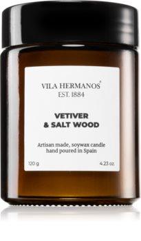 Vila Hermanos Apothecary Vetiver & Salt Wood illatos gyertya