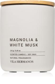 Vila Hermanos Concrete Magnolia & White Musk scented candle