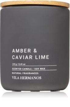 Vila Hermanos Concrete Amber & Caviar Lime świeczka zapachowa