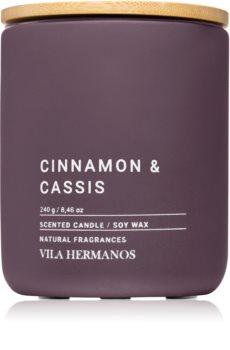 Vila Hermanos Concrete Cinnamon & Cassis mirisna svijeća