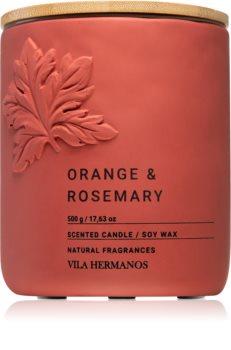 Vila Hermanos Concrete Orange & Rosemary scented candle