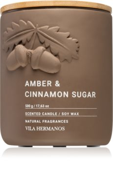 Vila Hermanos Amber & Cinnamon Sugar Tuoksukynttilä