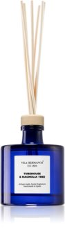 Vila Hermanos Apothecary Cobalt Blue Tuberose & Magnolia Tree diffuseur d'huiles essentielles avec recharge