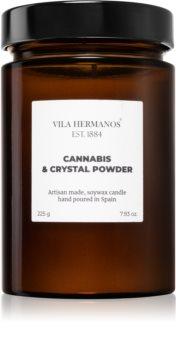 Vila Hermanos Apothecary Cannabis & Crystal Powder dišeča sveča