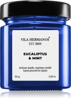 Vila Hermanos Apothecary Cobalt Blue Eucalyptus & Mint scented candle