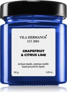 Vila Hermanos Apothecary Cobalt Blue Grapefruit & Citrus Lime ароматна свещ