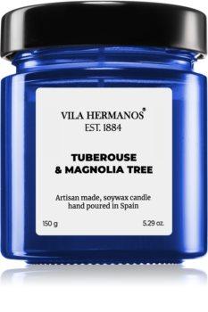 Vila Hermanos Apothecary Cobalt Blue Tuberose & Magnolia Tree scented candle
