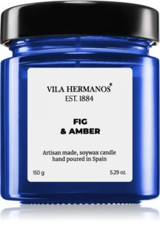 Vila Hermanos Apothecary Cobalt Blue Fig & Amber scented candle