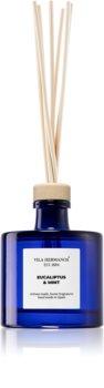 Vila Hermanos Apothecary Cobalt Blue Eucalyptus & Mint aroma diffuser with filling