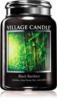 Village Candle Black Bamboo scented candle