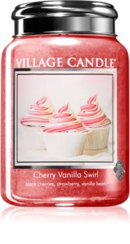 Village Candle Cherry Vanilla Swirl scented candle