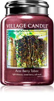 Village Candle Acai Berry Tobac scented candle