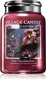 Village Candle Dark Chocolate Rose scented candle