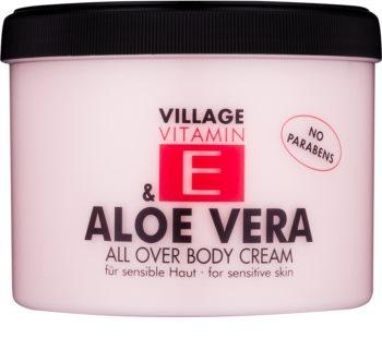 Village Vitamin E Aloe Vera crème pour le corps