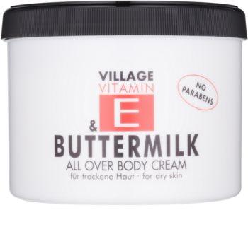 Village Vitamin E Buttermilk testápoló krém