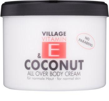 Village Vitamin E Coconut testápoló krém