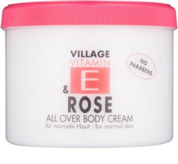 Village Vitamin E Rose testápoló krém