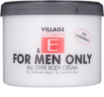 Village Vitamin E For Men Only testápoló krém