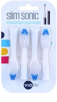 Violife Slim Sonic cabeças de substituição para escova de dentes com bateria sónica