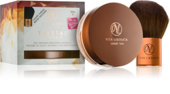Vita Liberata Trystal Minerals poudre bronzante avec pinceau