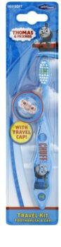 VitalCare Thomas & Friends escova de viagem para crianças com tampa soft