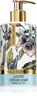 Vivian Gray Wild Flowers sapone in crema