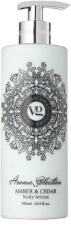 Vivian Gray Aroma Selection Amber & Cedar latte corpo