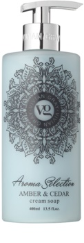 Vivian Gray Aroma Selection Amber & Cedar кремообразен течен сапун