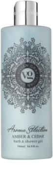 Vivian Gray Aroma Selection Amber & Cedar gel de duche e banho