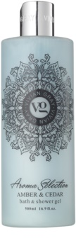 Vivian Gray Aroma Selection Amber & Cedar Suihku- Ja Kylpygeeli