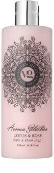 Vivian Gray Aroma Selection Lotus & Rose gel de duche e banho