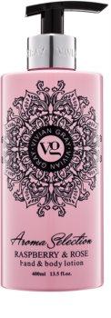 Vivian Gray Aroma Selection Raspberry & Rose latte per mani e corpo