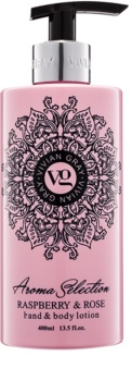 Vivian Gray Aroma Selection Raspberry & Rose mlijeko za ruke i tijelo