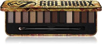 W7 Cosmetics Goldibox szemhéjfesték paletta