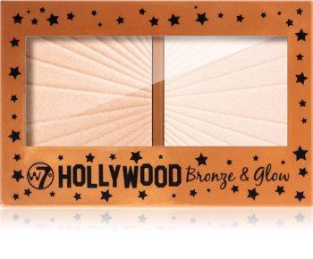 W7 Cosmetics Hollywood μπρόνζερ και λαμπρυντικό