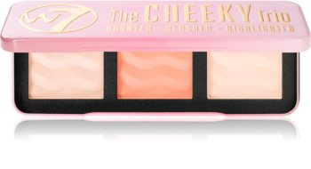 W7 Cosmetics The Cheeky Trio palette contour de visage