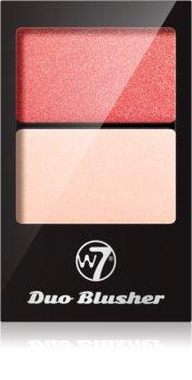 W7 Cosmetics Duo Blusher blush avec pinceau
