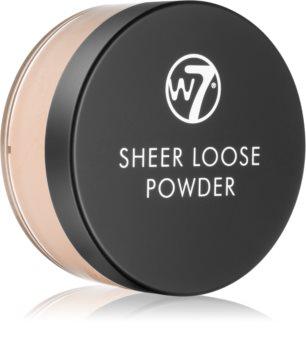 W7 Cosmetics Sheer Loose matující sypký pudr