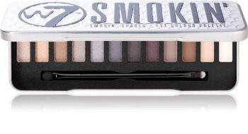 W7 Cosmetics Smokin' szemhéjfesték paletta