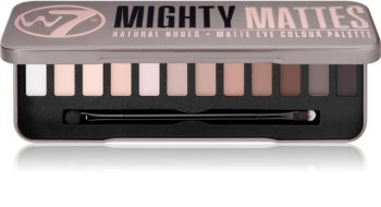 W7 Cosmetics Mighty Mattes Eyeshadow Palette with Matte Effect