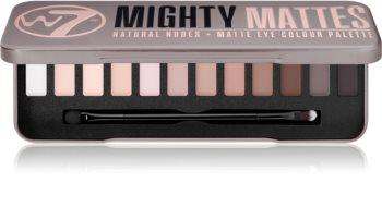 W7 Cosmetics Mighty Mattes szemhéjfesték paletta matt hatással