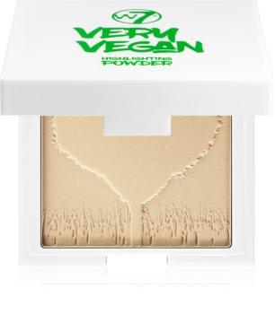 W7 Cosmetics Very Vegan kompaktowy pudrowy rozświetlacz
