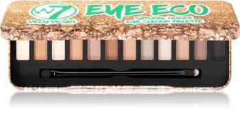 W7 Cosmetics Very Vegan Eye Eco paleta očních stínů