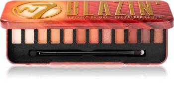 W7 Cosmetics Blazin' paleta senčil za oči