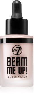 W7 Cosmetics Beam Me Up! folyékony bőrélénkítő