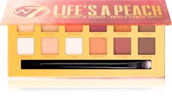 W7 Cosmetics Life's a Peach палитра сенки за очи с матиращ ефект