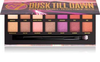 W7 Cosmetics Dusk Till Dawn paleta očních stínů