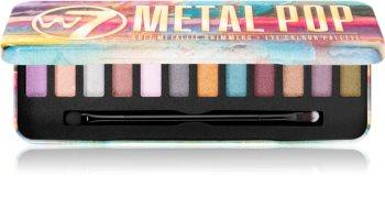 W7 Cosmetics Metal Pop paleta metalických očních stínů