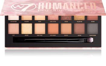 W7 Cosmetics Romanced paleta očních stínů