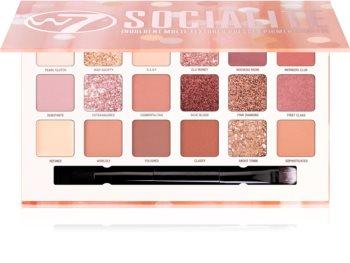 W7 Cosmetics Socialite Lidschatten-Palette